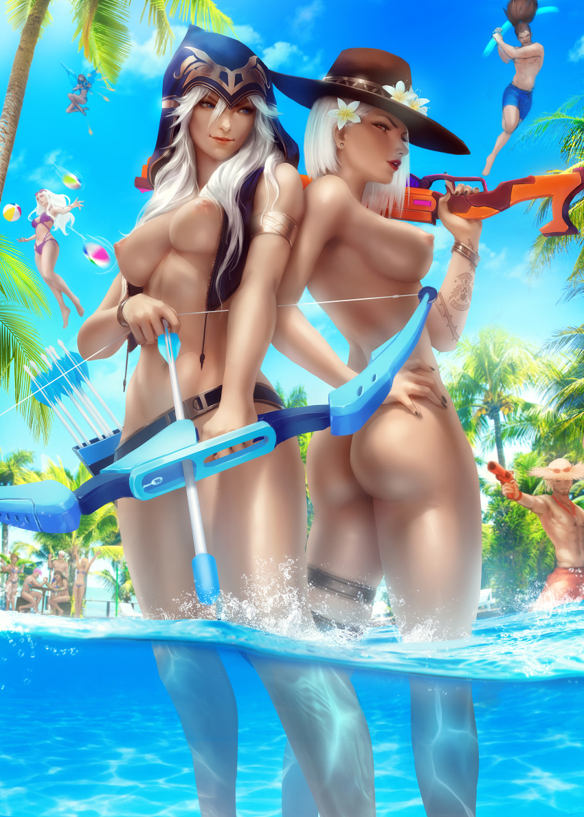 league legends nude ashe of Tank top girl one punch man