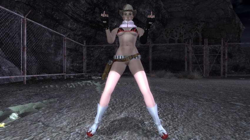 fallout vegas sarah pretty new Two cocks in one mouth